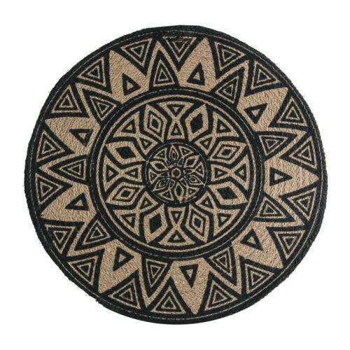deko & co décor vannerie sauvage - ø42 cm - beige et noir