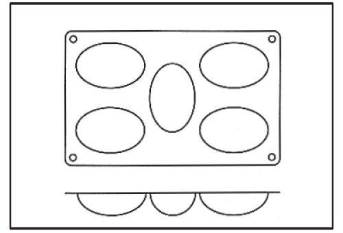 Moule silicone *silicon flex* 5 demi-oeufs