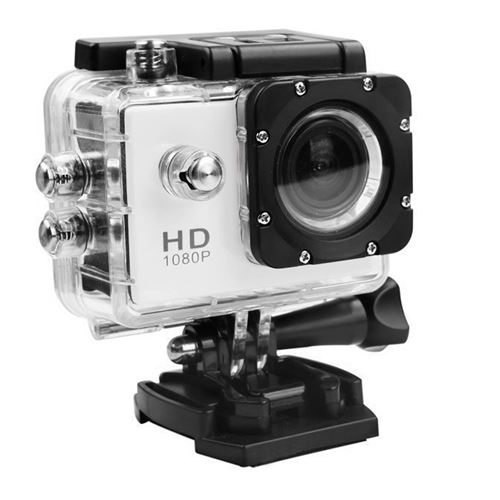 Caméra Sport Mini Hd 1080P Wifi Étanche -Blanc