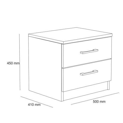 table de chevet blanc h 45