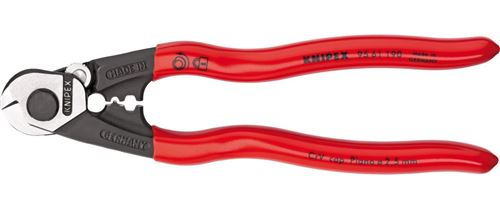 Knipex coupe-câble acier/plastique rouge/noir