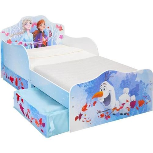 Lit enfant Reine des Neiges 2 avec tiroirs de rangement Disney