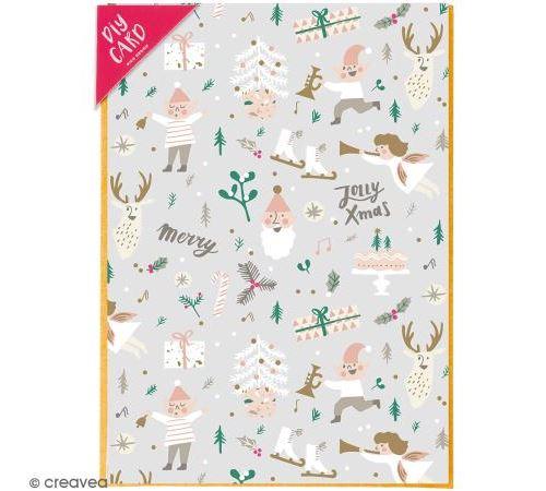 Kit carte à personnaliser - Rico Design Noël - Noël Pastel - 12,5 x 17,5 cm