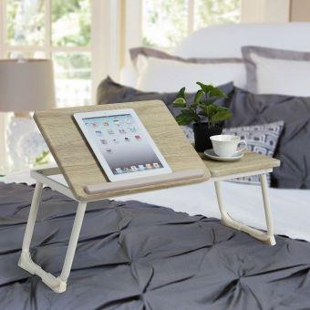 Bois De Pliable Table Pour Lit Clair Tablette PuOXZki