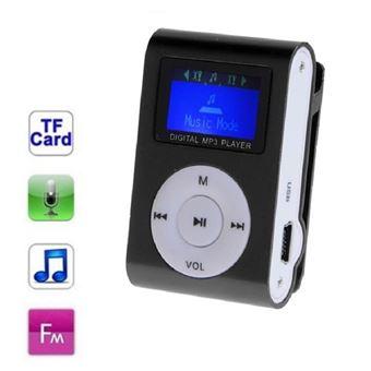 Lecteur MP3 à carte mémoire - clip ceinture - Ecran LCD - Radio FM - Noir