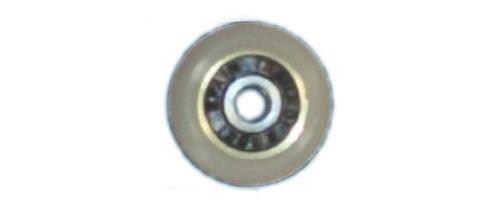 Roulette ROU33 fixe D.19mm ép.12mm Kinedo référence ROU33.
