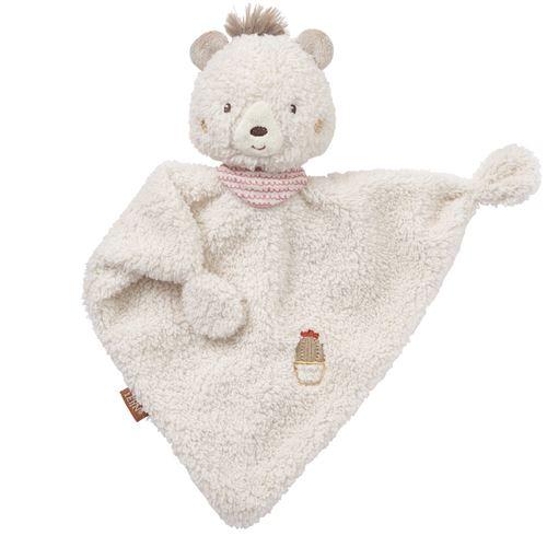Fehn couverture câline ours Pérou 27 cm beige