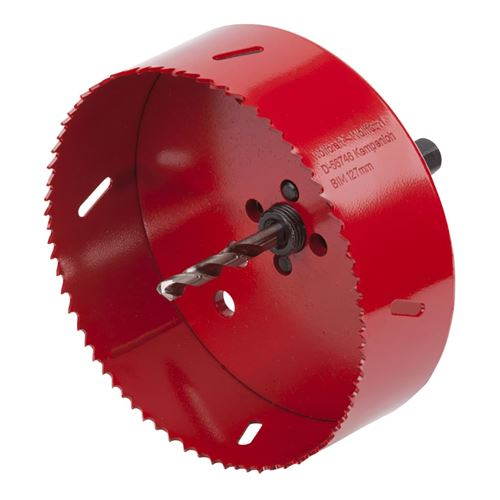 wolfcraft Scie cloche 127 mm Rouge 5495000