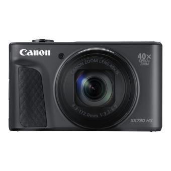 Canon PowerShot SX730 HS - Digitale camera - compact - 20.3 MP - 1080p / 60 beelden per seconde - 40x optische zoom - Wi-Fi, NFC, Bluetooth - zwart
