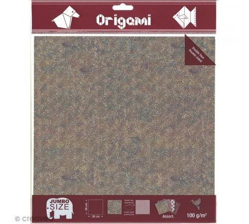 OK 10502 Papier Pliage Oz Internationaligami 260x260mm 100g/m2 Double Face Décor Dinosaures Lot de 12 Blanc