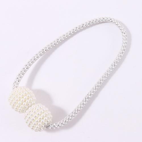 Boucle Clip Magnétique Rideau Bretelles Blanc