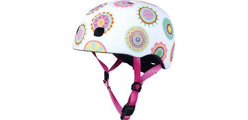 Casque Vélo et Trottinette Doodle Dots boucle magnétique lumière LED intégrée Taille M