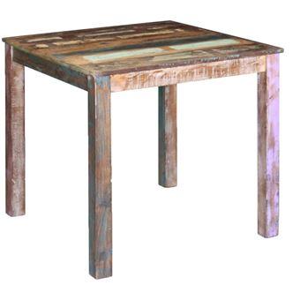 Exceptionnel VidaXL Table De Salle à Manger Solide Bois Recyclé 80 X 82 X 76 Cm Meubles  De Salle De Cuisine   Achat U0026 Prix   Fnac