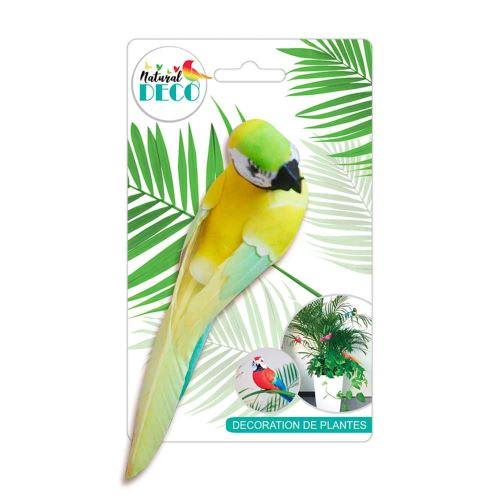 Déco Plantes – Grand Oiseau Jaune CD3820