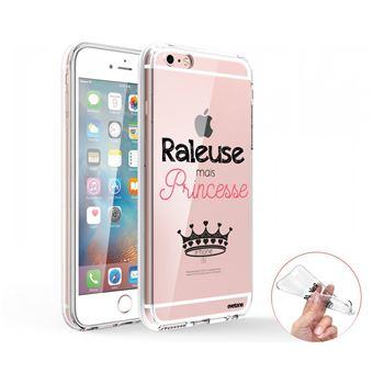 Coque Iphone 6 Iphone 6s 360 Intégrale Transparente, Raleuse Mais Princesse, Evetane®