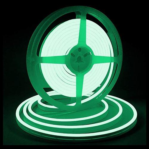 Bande lumineuse LED Silicone souple couleur néon étanche DC 12V 5m -Vert