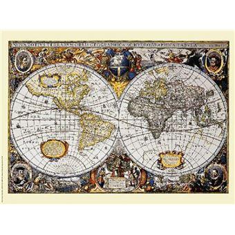 Carte du monde 140cm x 100cm Poster XXL Mappemonde Style ancien//vintage