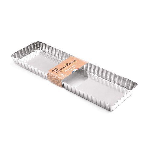 Moule à tarte rectangulaire en fer blanc 35 x 11 cm - Mirontaine
