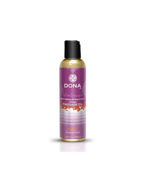 Huile parfumée de massage tropical tease 125 ml dona 5185
