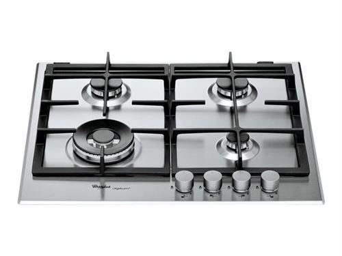 Whirlpool iXelium GMR 6422/IXL - Table de cuisson au gaz - 4 plaques de cuisson - Niche - largeur : 56 cm - profondeur : 48 cm - acier inoxydable