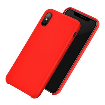 coque iphone xs rouge silicone