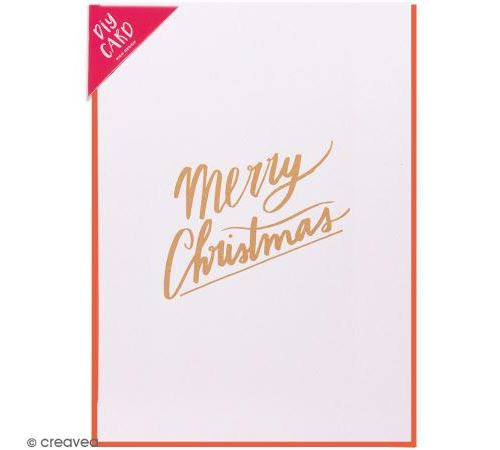 Kit carte à personnaliser - Rico Design Noël - Merry Christmas Pastel - 12,5 x 17,5 cm
