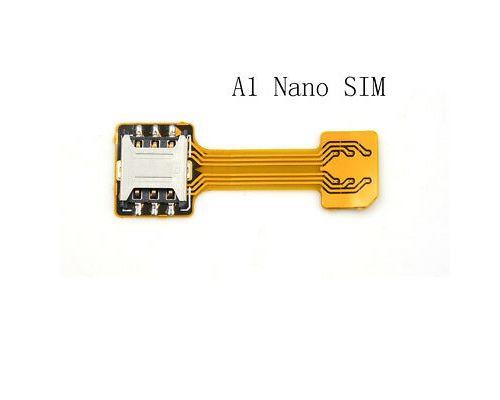 Adaptateur de convertisseur de carte hybride double micro Nano Sim Extension S D Slot Android