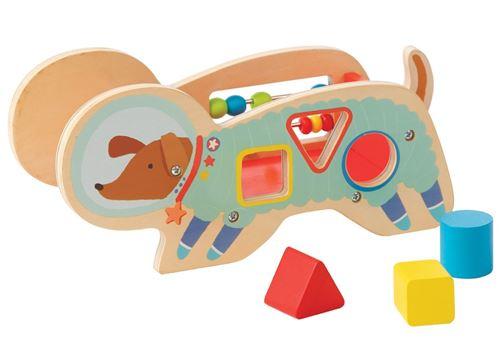 Manhattan Toy trieur de formes Space Dog junior 11,5 cm bois