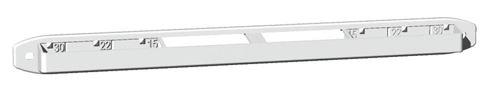 Entrée d'air autoréglable acoustique - Kit complet EA 15 N - Débit : 15/22/30 m3/h