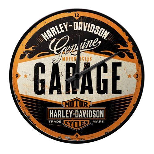 Pendule rétro Harley Davidson 30 cm