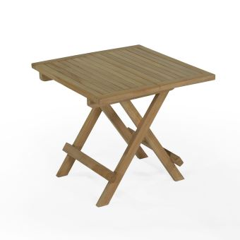 Table basse pliante carrée en teck Ecograde Kento 50 x 50 cm ...