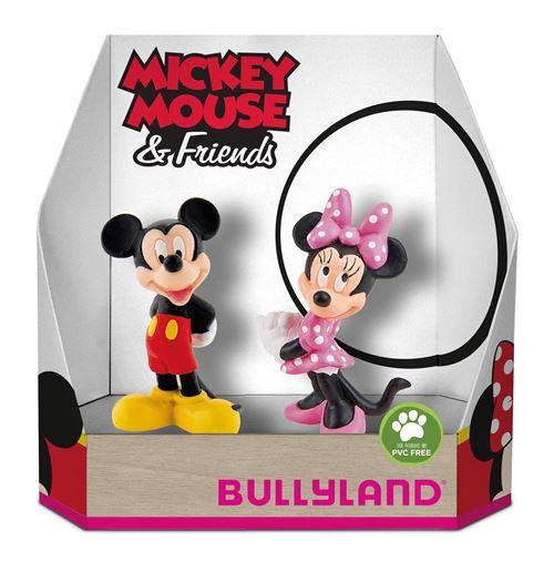 Bully Land 15083 – Disney Mickey Et Minnie Classic Dans Boîte Cadeau Jeu Figurine Lot De 2 Pièces