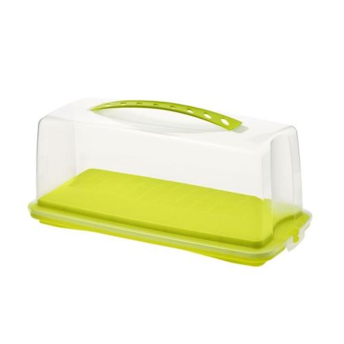 SUNDIS Boîte a cake Fresh 7225002 36x16,5x16,5 cm vert et transparent