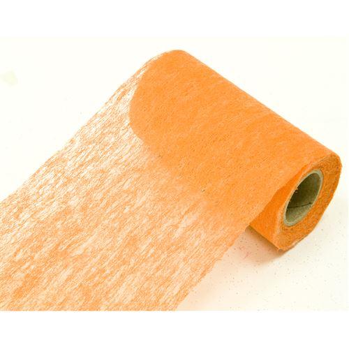 Lot de 10 Rouleaux en tissus non tissé coloris Orange - 10 cm x 10 m