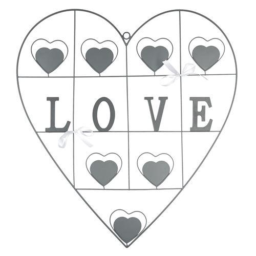 Pêle-mêle cœur Modern Love - Gris