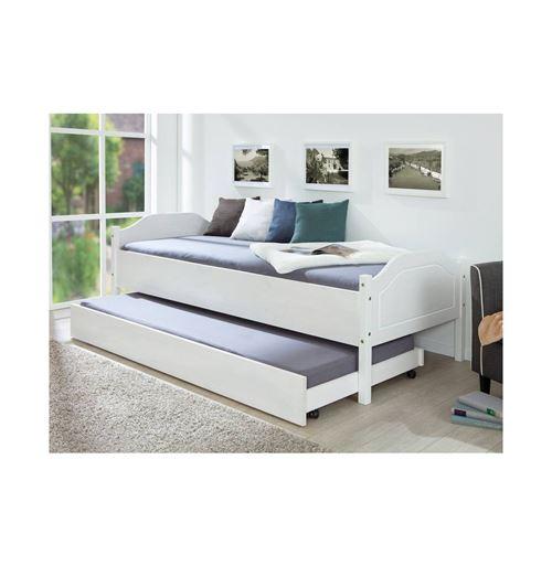 Tiroir de lit Umea à roulettes - 200 x 90 cm - Blanc