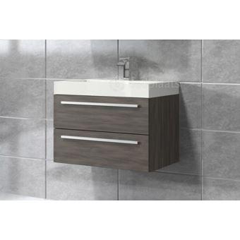 meuble de salle de bain marseille 60cm lavabo chne gris armoire de rangement meuble lavabo installations salles de bain achat prix fnac