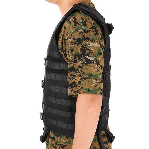 Lixada Veste Tactique Outdoor Hommes /équipement de Chasse modulaire Gilet de Charge avec Poche deau