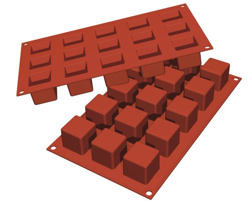 Moule flexible *silicon flex* 15 mini cubes