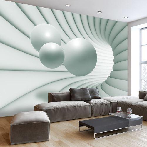 400x280 Papier peint 3D 3D et Perspective Moderne In The Green Tunnel