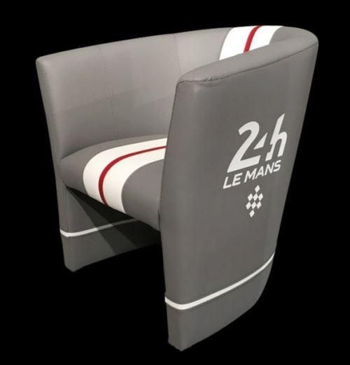 Fauteuil Cabriolet 24h Le Mans Gris Blanc Rouge