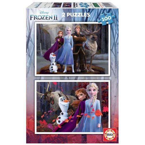 EDUCA - puzzle 2x100 la reine des neiges 2