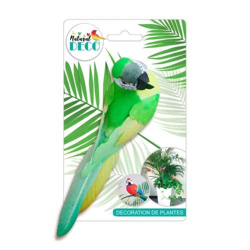 Déco Plantes – Grand Oiseau Vert CD3822