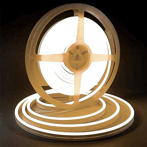 Bande lumineuse LED Silicone souple couleur néon étanche DC 12V 5m -Jaune
