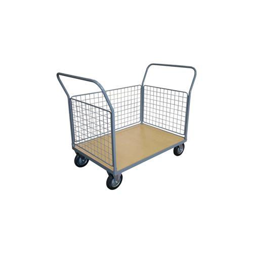 Chariot 250 kg plateau bois 3 ridelles 1000x700 mm