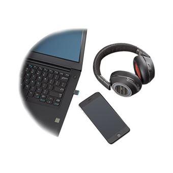 Poly Voyager 8200 UC USB-C - Koptelefoon met micro - over oor - Bluetooth - draadloos - NFC - actieve geluidsdemping - 3,5 mm-stekker - zwart