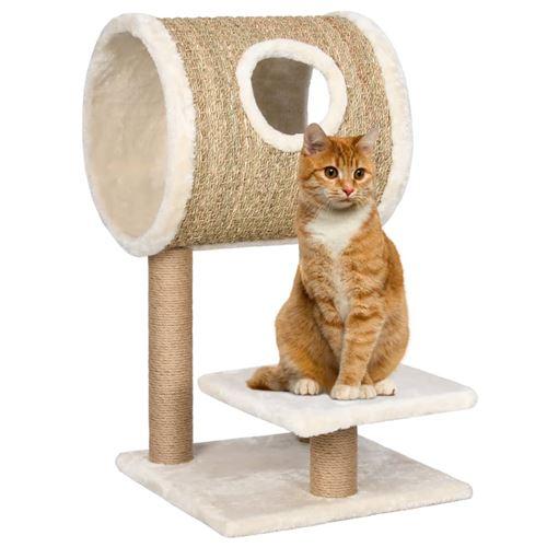 Arbre à chat avec appartement et griffoir 69 cm Herbiers marins