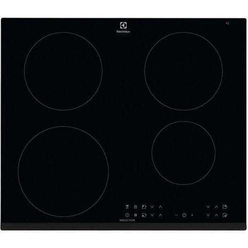 Electrolux LIT6043 - Table de cuisson à induction - 4 plaques de cuisson - Niche - largeur : 56 cm - profondeur : 49 cm - noir - avec avant biseauté