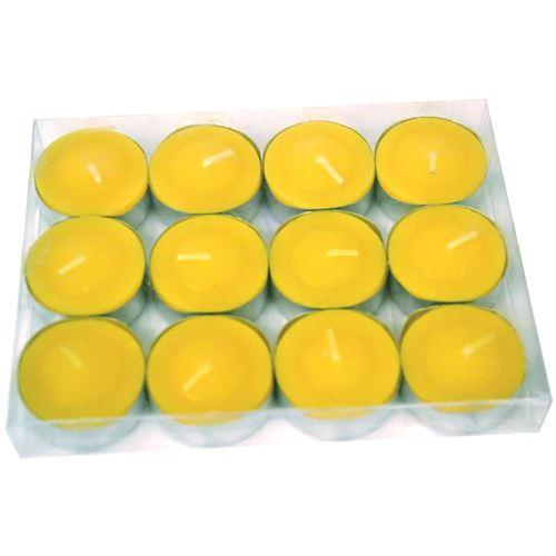 12 bougies citronnelle chauffe plat
