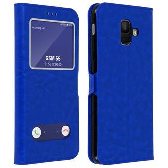 Etui Housse Coque Bleu Samsung Galaxy A6 Plus 2018